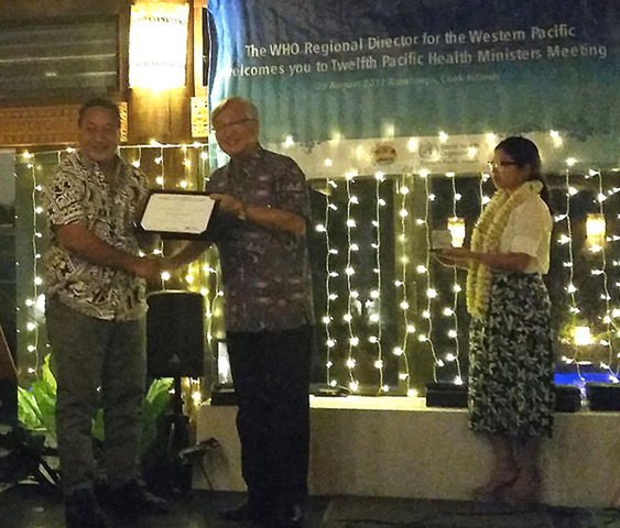 Tokelau health WHO award - 2017-ed