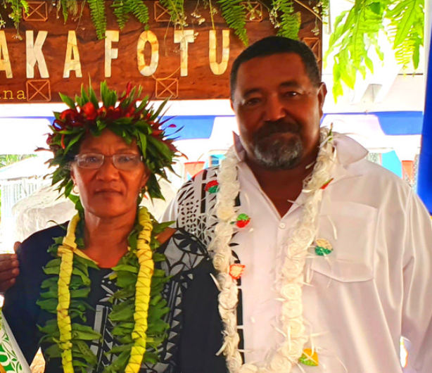 Ulu o Tokelau, Hon Fofo Tuisano and First Lady Maihe Tuisano copy-371